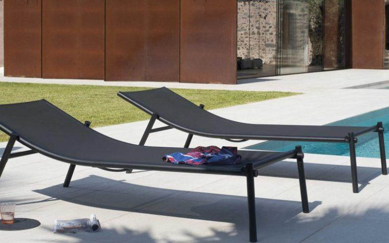 TecTake Chaise longue : un transat de jardin élégant